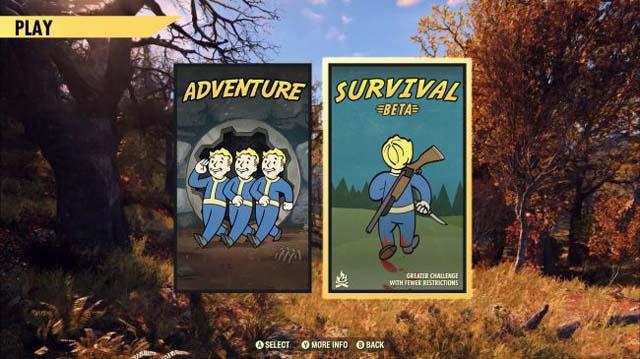 Fallout 76 Survival Mode