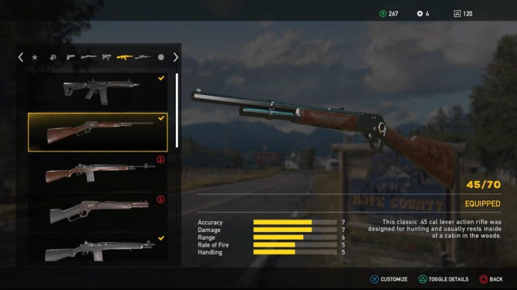 Far Cry 5 Weapons List - Unlockable Rifles - 45/70