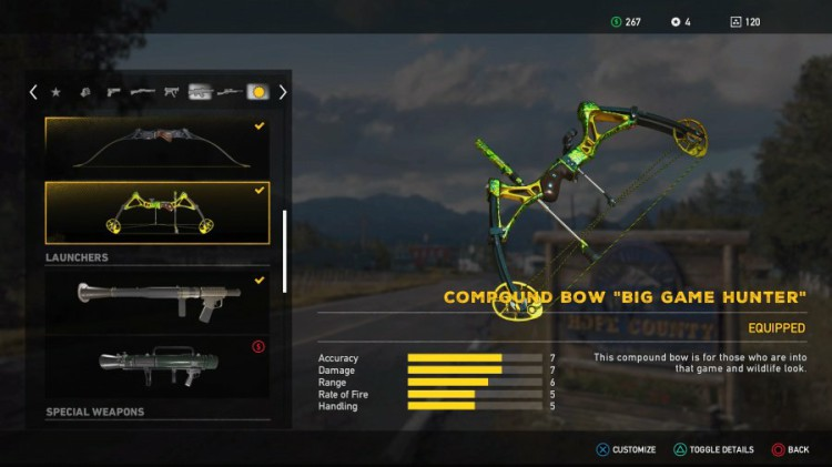 Far Cry 5 Guide: Far Cry 5 Weapons List - All Unlockable Compound Bow Big Game Hunter