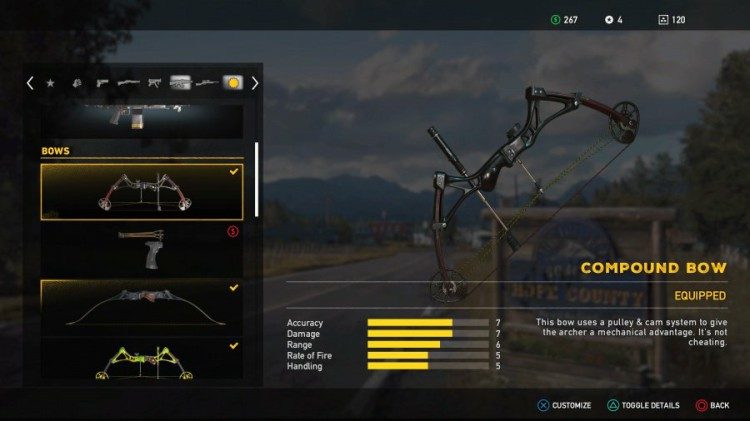 Far Cry 5 Guide: Far Cry 5 Weapons List - All Unlockable Compound Bow