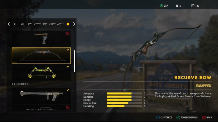 Far Cry 5 Guide: Far Cry 5 Weapons List - All Unlockable Recurve Bow