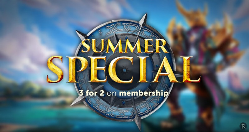 RuneScape Summer Special 2019 - Grab 3-for-2 Membership